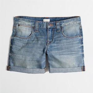 J Crew Cuffed Denim Shorts